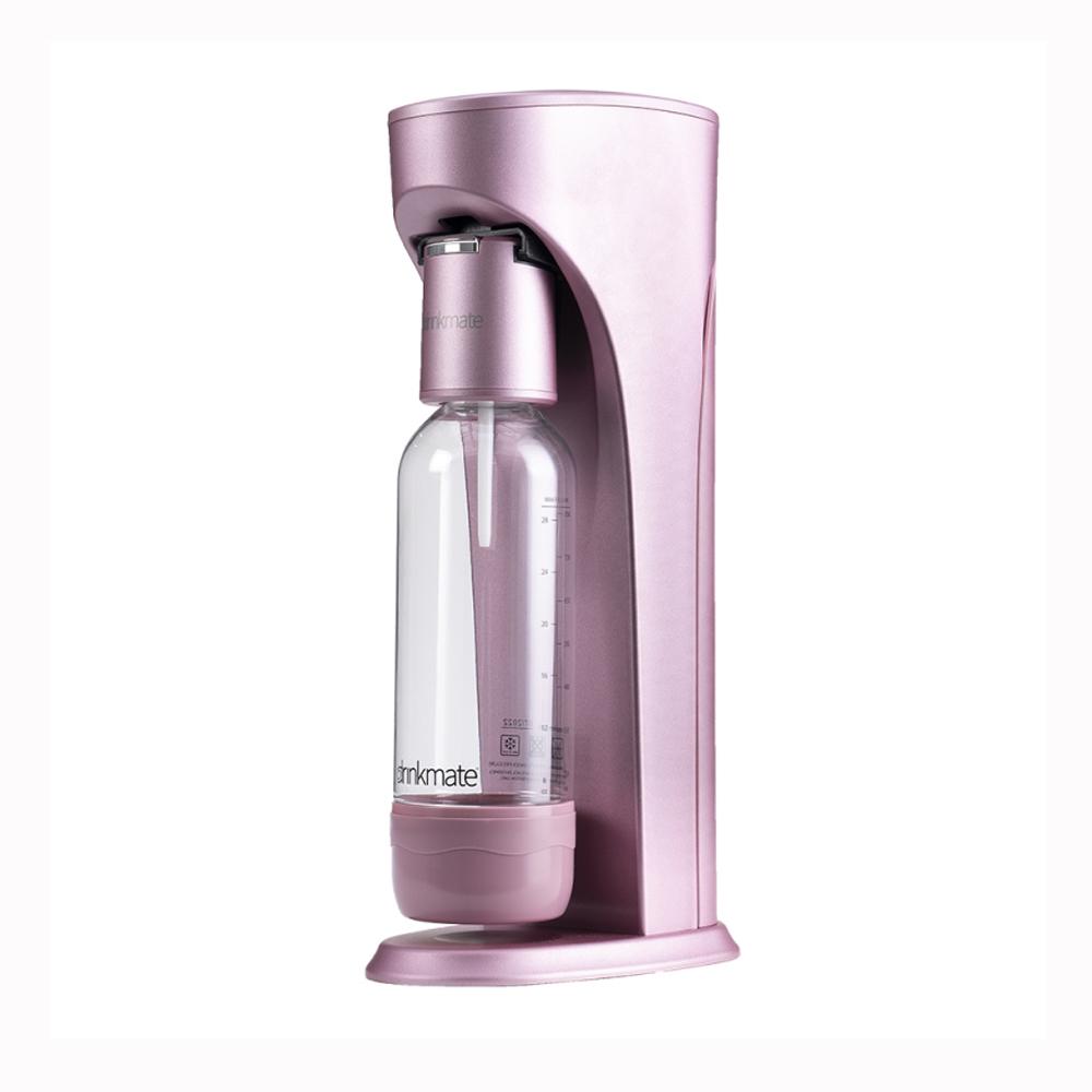 Drinkmate Rhino410 氣泡水機1L+0.5L水瓶CO2瓶 犀牛機 玫瑰金