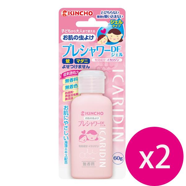 日本金鳥 KINCHO 防蚊凝膠-派卡瑞丁60ml *2瓶