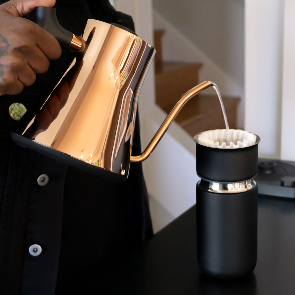 【FELLOW】Carter 卡特咖啡陶瓷真空保溫瓶-磨砂黑16oz