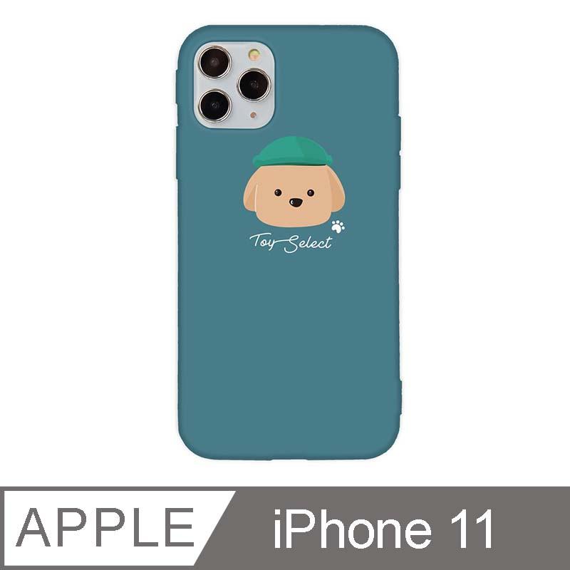 iPhone 11 6.1吋 文藝貴賓狗iPhone手機殼 巧克力貴賓 青綠色