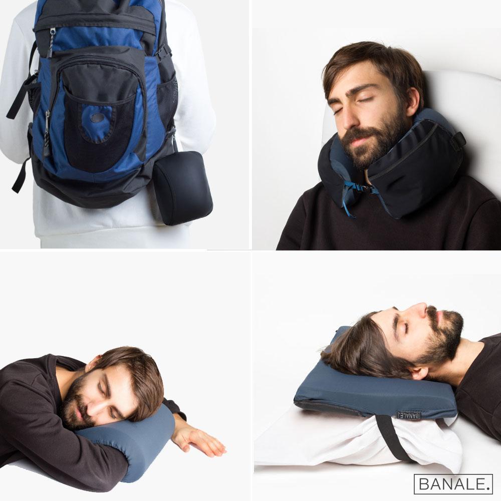 預購-【義大利BANALE】OMNI 三用時尚旅枕-鐵灰
