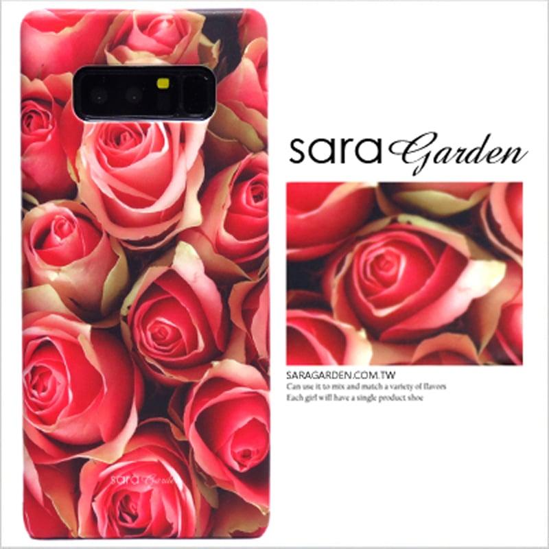 【Sara Garden】客製化 手機殼 三星 Note8 Samsung 浪漫玫瑰花 保護殼 硬殼