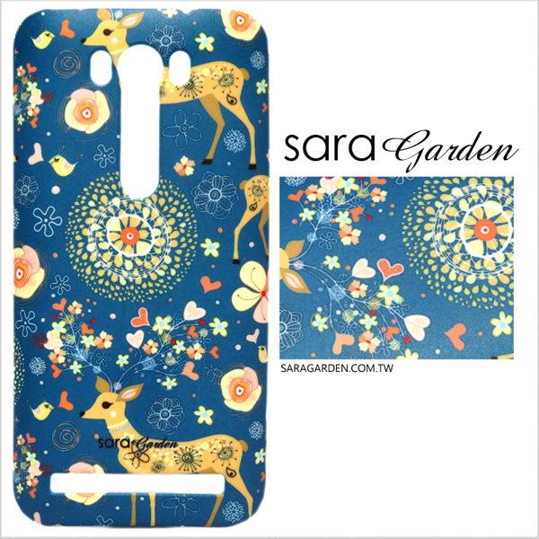 【Sara Garden】客製化 手機殼 SONY XA2 手工 保護殼 硬殼 手繪碎花梅花鹿