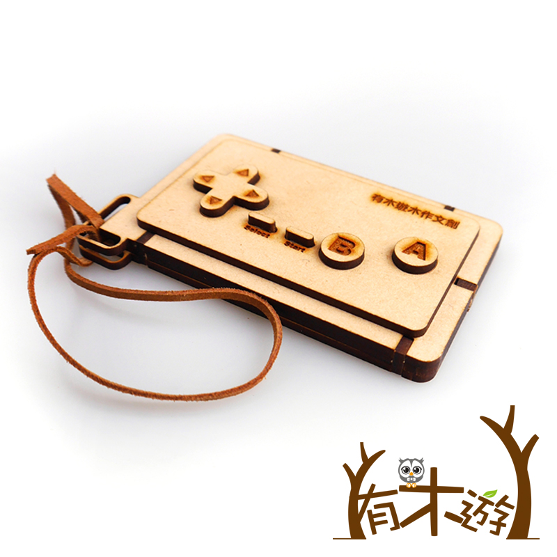 有木遊 遊戲搖桿識別證件夾(含皮繩)