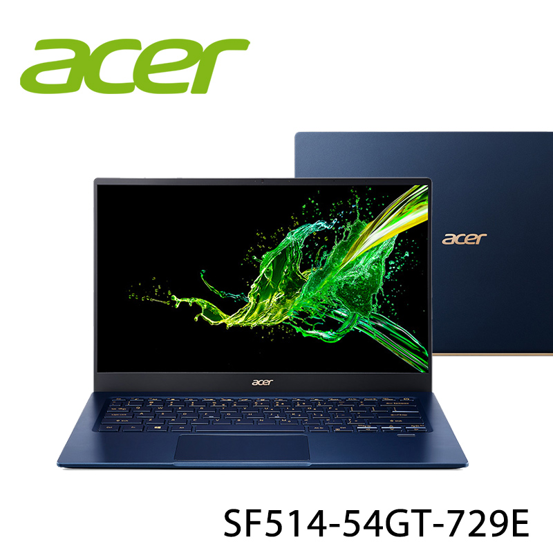 【ACER宏碁】SF514-54GT-729E 藍 14吋 筆電-送原廠束口袋(贈品顏色款式隨機)