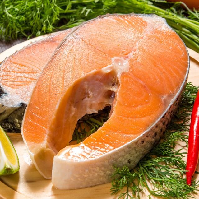 【鮮綠生活】皇家特厚智利鮭魚切片 310±10%/片,共8片