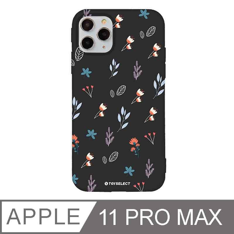 iPhone 11 Pro Max 6.5吋 花言花語Flower Series設計iPhone手機殼 鄉村小野花 時尚黑