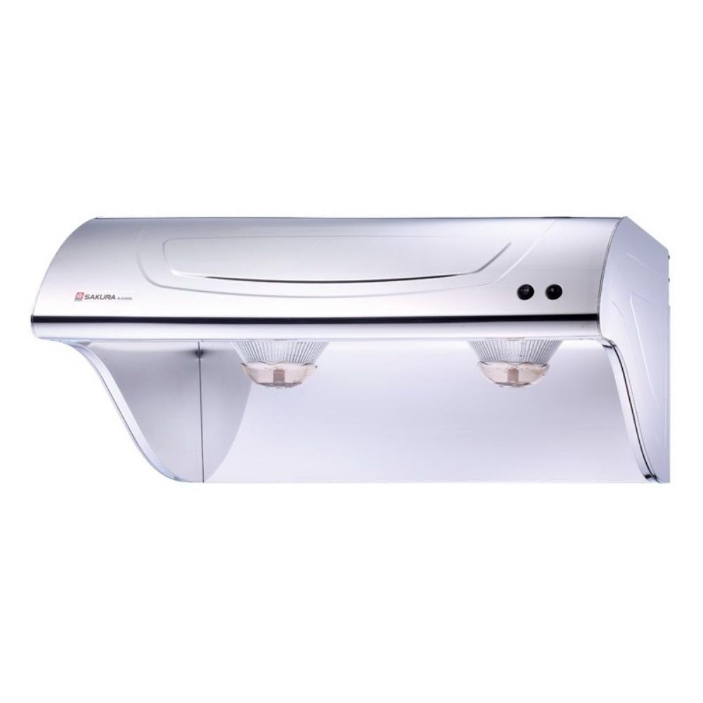 【櫻花 SAKURA】斜背式除油煙機-不鏽鋼 90cm R3250SXL (全台標準安裝,安裝費由現場安裝人員收取)