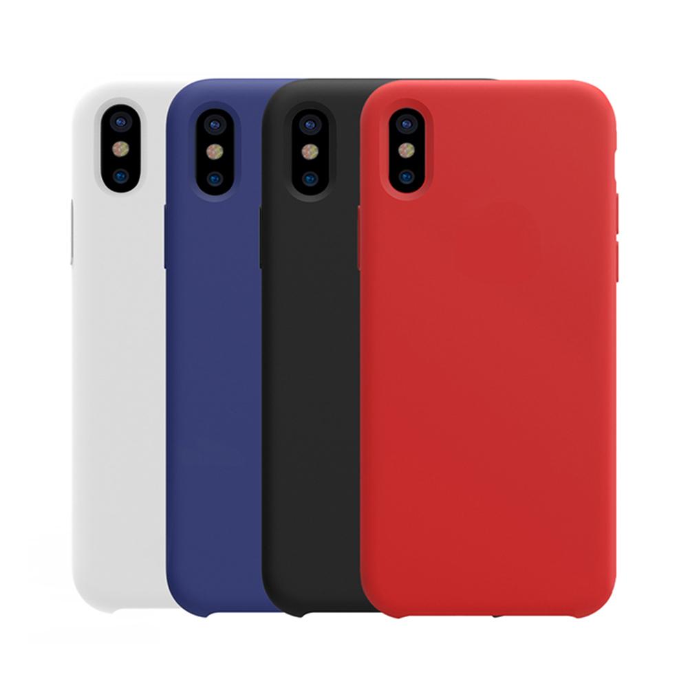 NILLKIN Apple iPhone X 感系列液態矽膠殼(紅色)