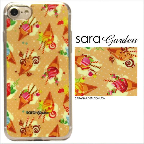 【Sara Garden】客製化 軟殼 蘋果 iPhone7 iphone8 i7 i8 4.7吋 手機殼 保護套 全包邊 掛繩孔 繽紛糖果聖代