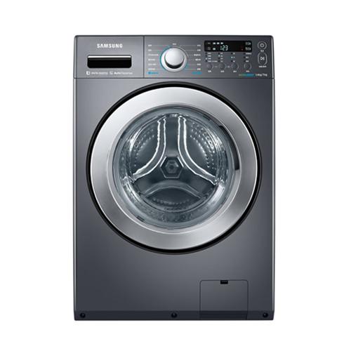 買就送國際14吋立扇F-L14BMS★三星14公斤變頻滾筒洗脫烘洗衣機WD14F5K5ASG/TW(黑色)