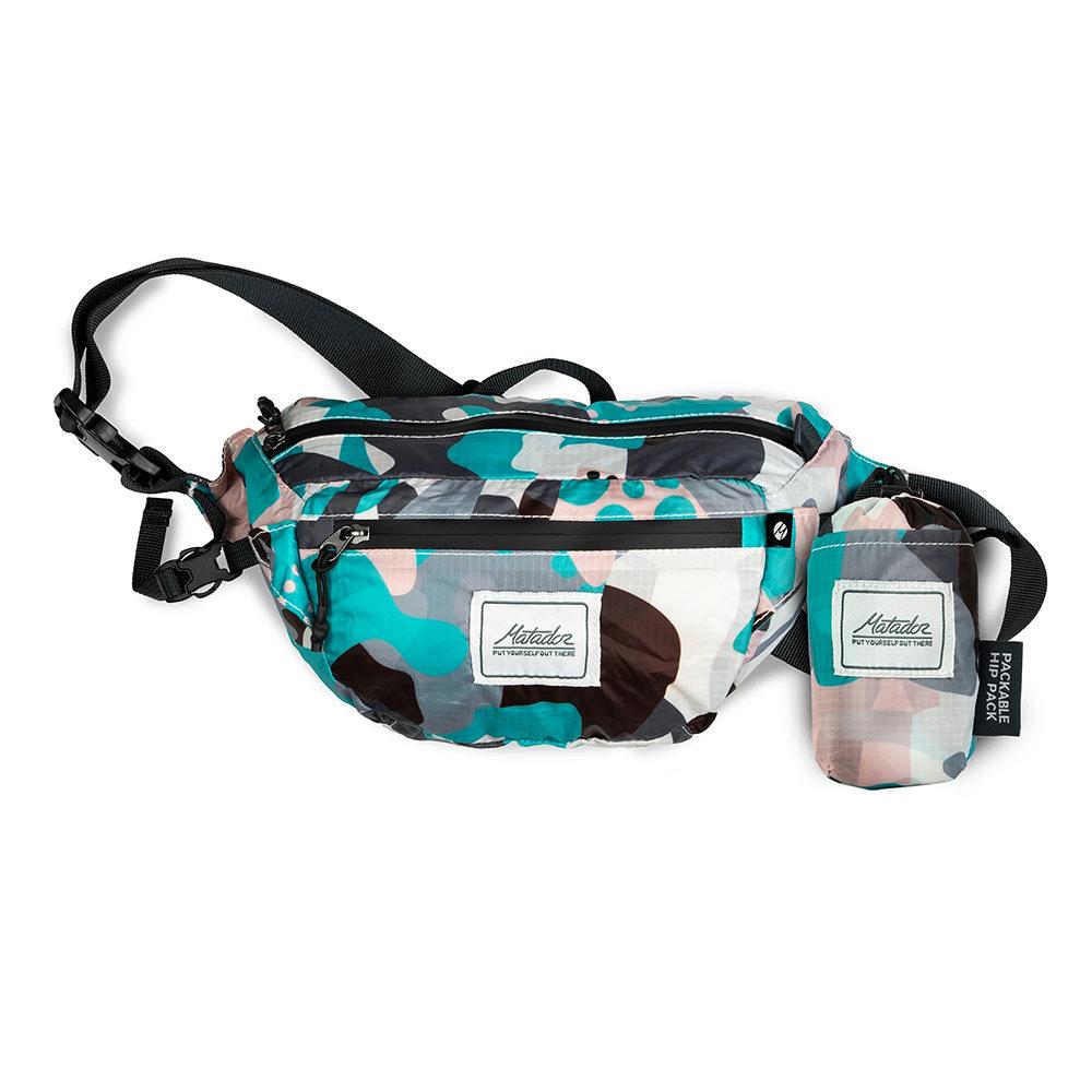 Matador鬥牛士DayLite Packable Hip Pack 防水旅行腰包-都會彩繪