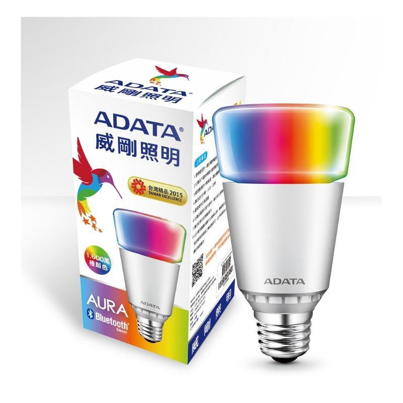 ADATA威剛 無線藍芽RGB情境燈泡 AL-BUA19B-7WRGB-2