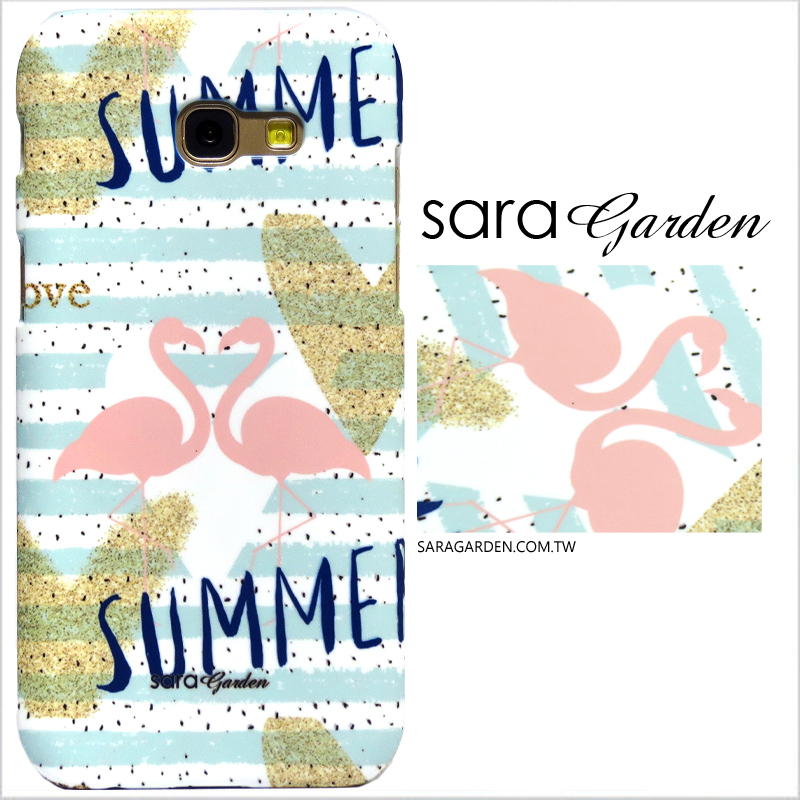 【Sara Garden】客製化 手機殼 Samsung 三星 A8Plus A8+ 2018 火鶴紅鶴愛心 曲線 手工 保護殼 硬殼