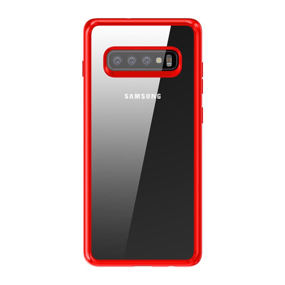 【TOTU台灣官方】S10手機殼防摔殼 霧面軟邊框+PC 晶彩系列 紅色