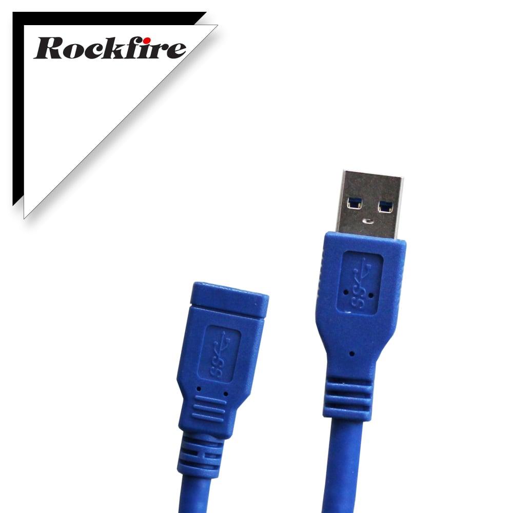 Rockfire USB3.0超高速傳輸線A公-A母 1M