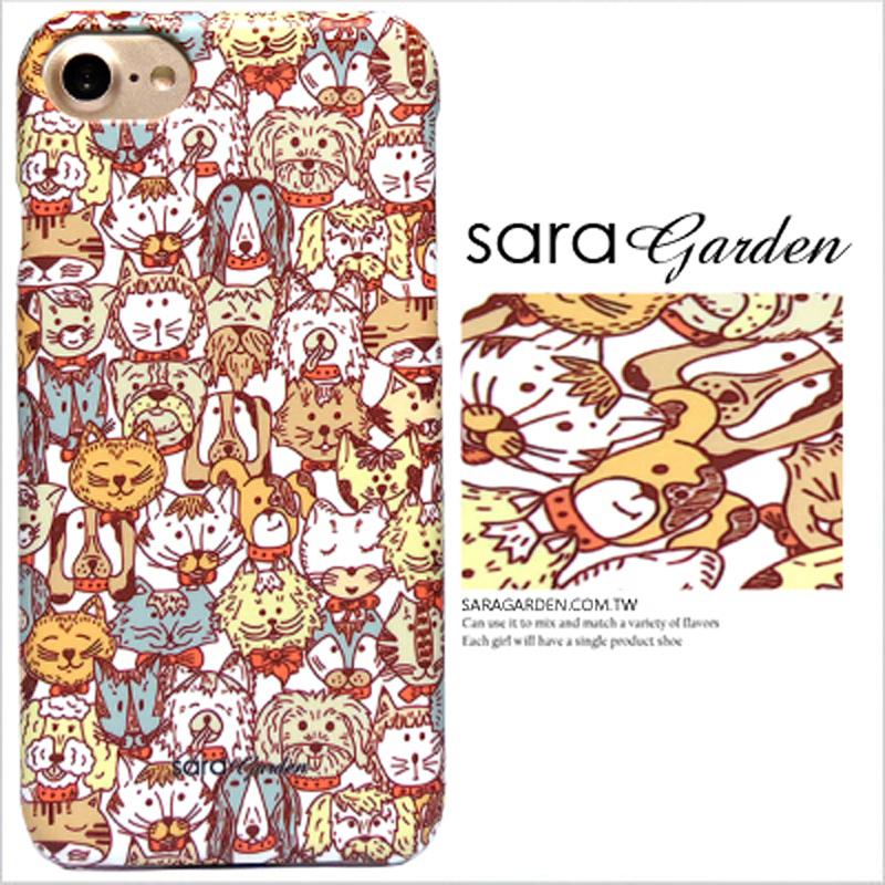 【Sara Garden】客製化 手機殼 Samsung 三星 A7(2018) 手繪 動物 毛小孩 保護殼 硬殼