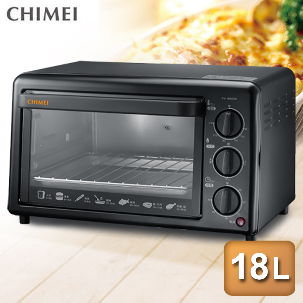 【CHIMEI奇美】18公升機械式電烤箱EV-18A0AK