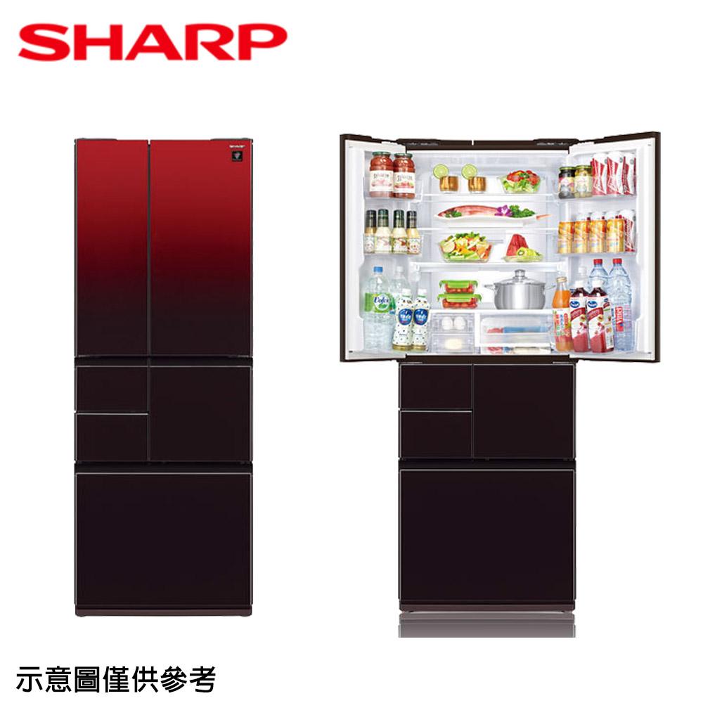 原廠登錄送【SHARP夏普】501公升變頻六門對開冰箱SJ-GT50BT-R