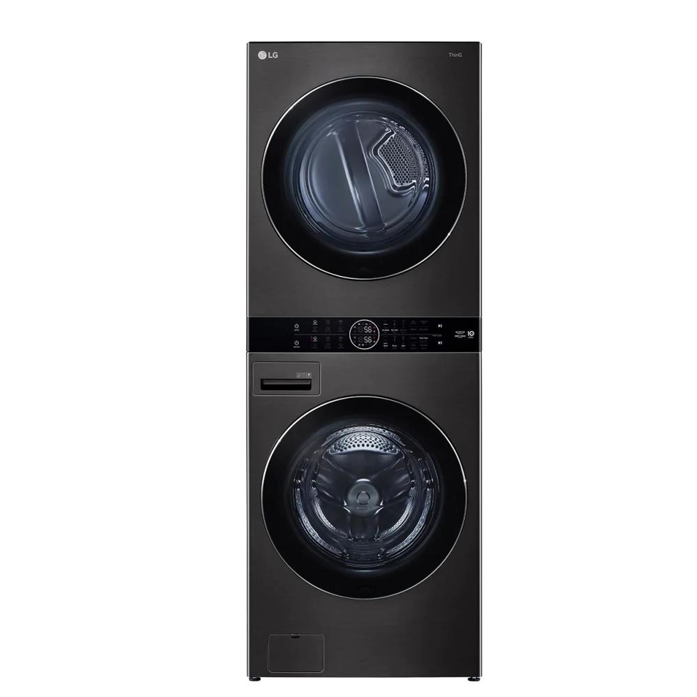 LG樂金WashTower19公斤AI智控黑色洗衣塔洗乾衣機WD-S1916B