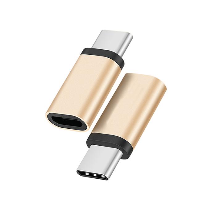 【2入組】AdpE Type-C to Micro USB2.0 AF轉接頭-金色