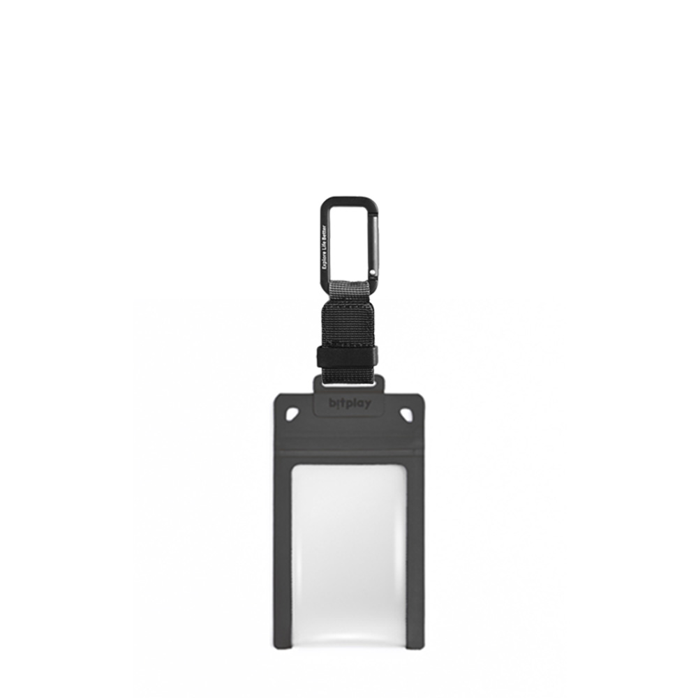 bitplay AquaSeal 防水機能證件套 - 暗夜黑 + 訂製掛鉤 - 黑色