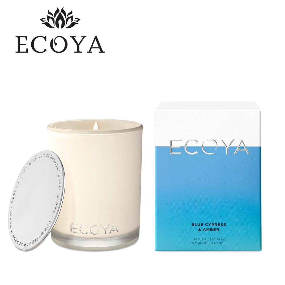 澳洲ECOYA 高雅香氛蠟燭-藍柏琥珀 400g