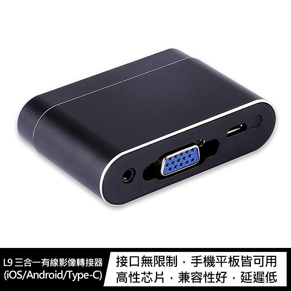 Wecast L9 三合一有線影像轉接器(iOS/Android/Type-C)