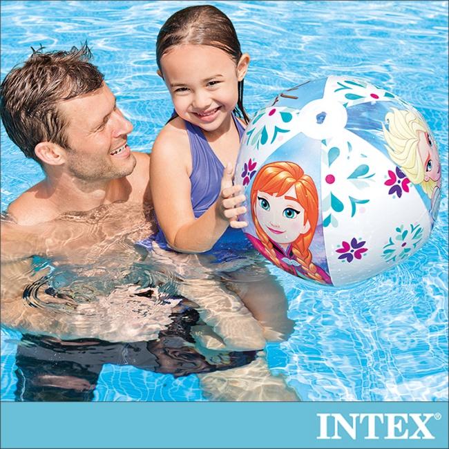 【INTEX】冰雪奇緣ELSA-沙灘球51cm 適用3歲以上(58021)
