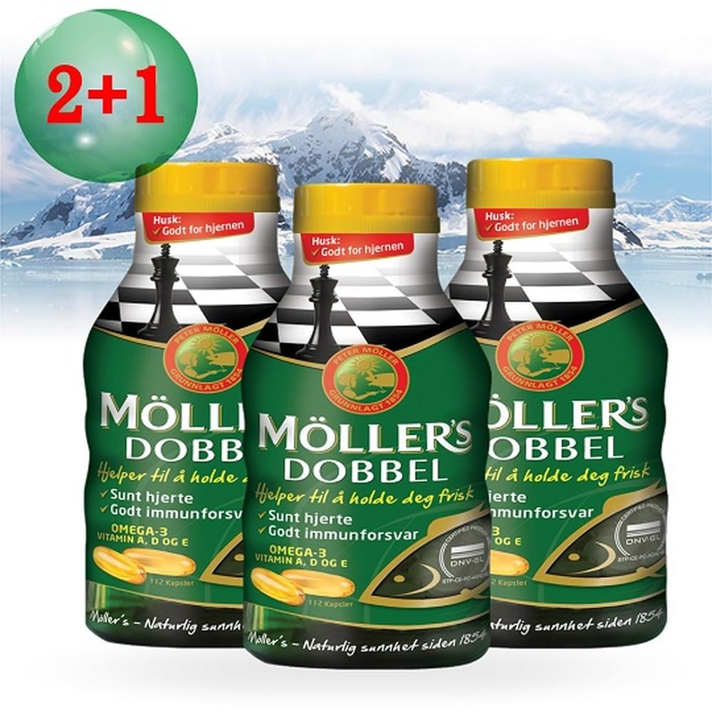 Möller's 沐樂思 經典全能膠囊(112顆/瓶) x 3入(效期2019.06)