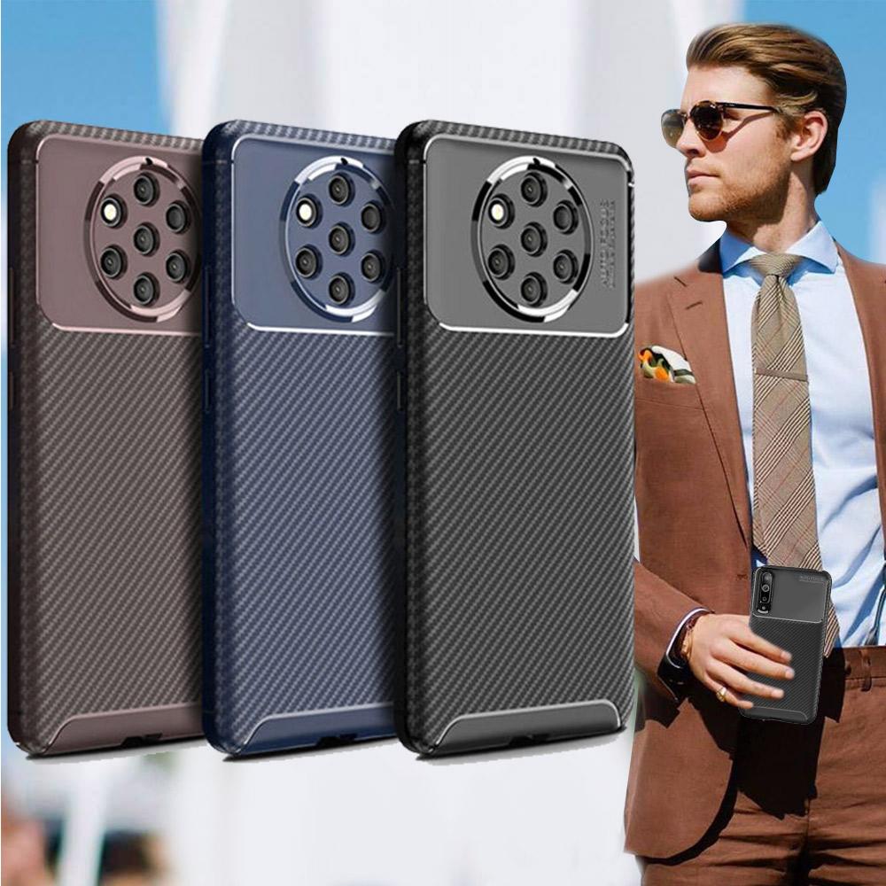 爵士焦點 NOKIA 9 PureView 碳纖維防指紋軟式手機殼(西洋藍)
