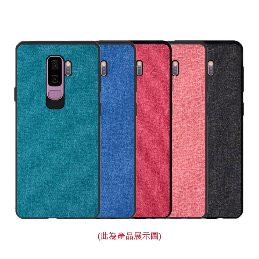 QinD SAMSUNG Galaxy J8 布藝保護套(青藍色)