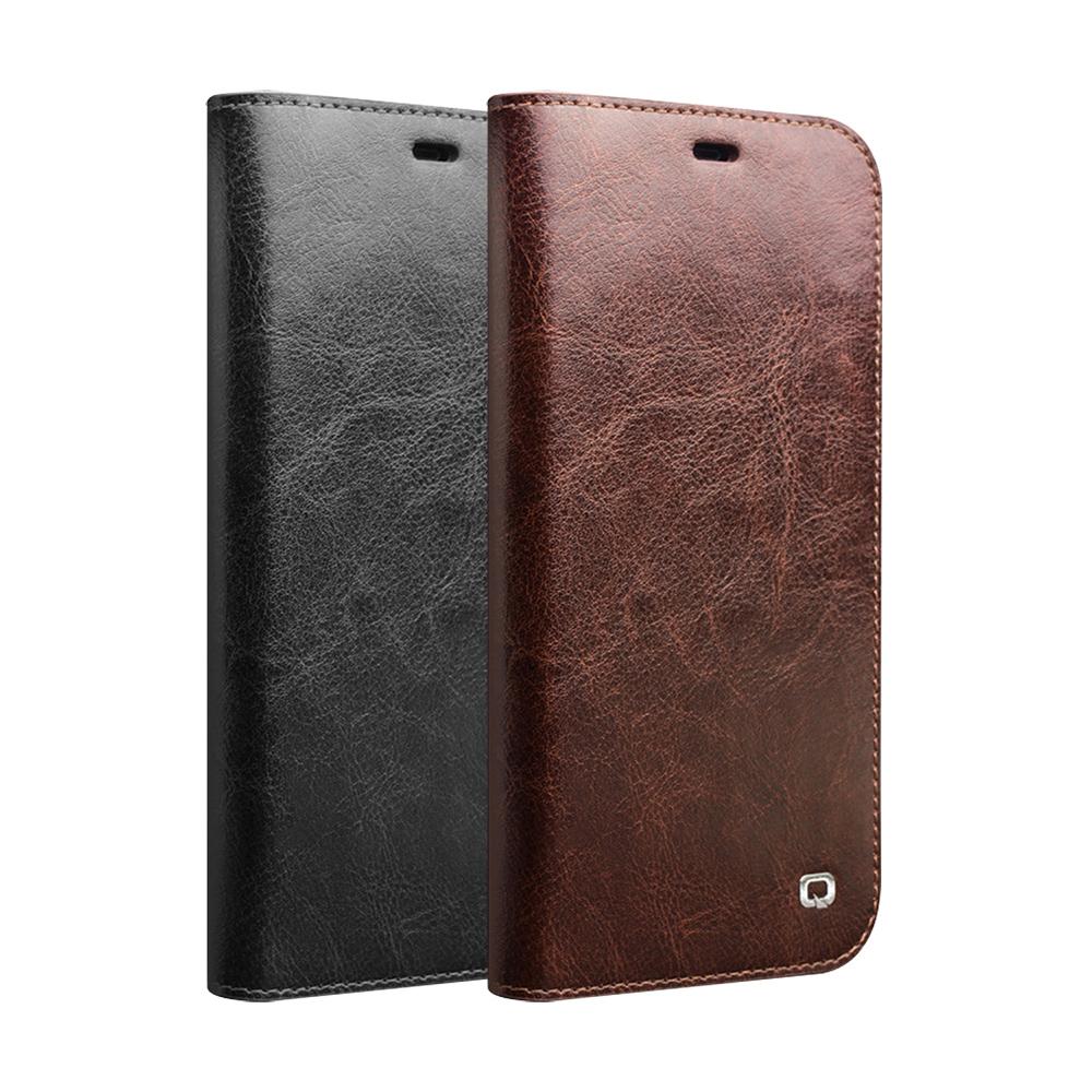 QIALINO Apple iPhone XR 經典皮套(棕色)