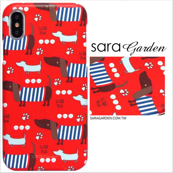 【Sara Garden】客製化 手機殼 Samsung 三星 A7 2017 手工 保護殼 硬殼 手繪臘腸狗狗