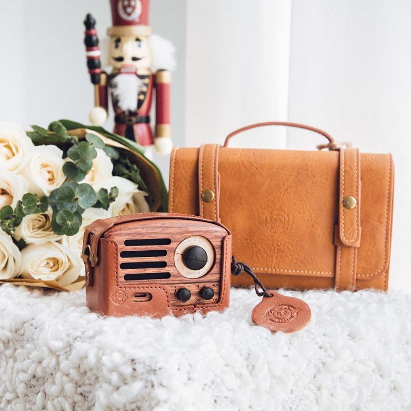 MUZEN OTR經典復刻藍牙音響收音機(豪華版)含原廠專用皮套+提背帶-玫瑰木