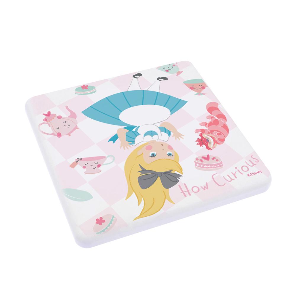 【收納王妃】迪士尼愛麗絲夢遊仙境系列珪藻土吸水杯墊10*10(兔子洞)