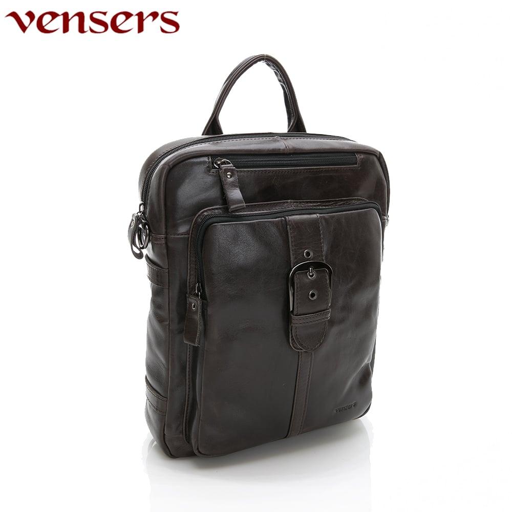 【vensers】小牛皮潮流個性包~後背包(NE16201深色)