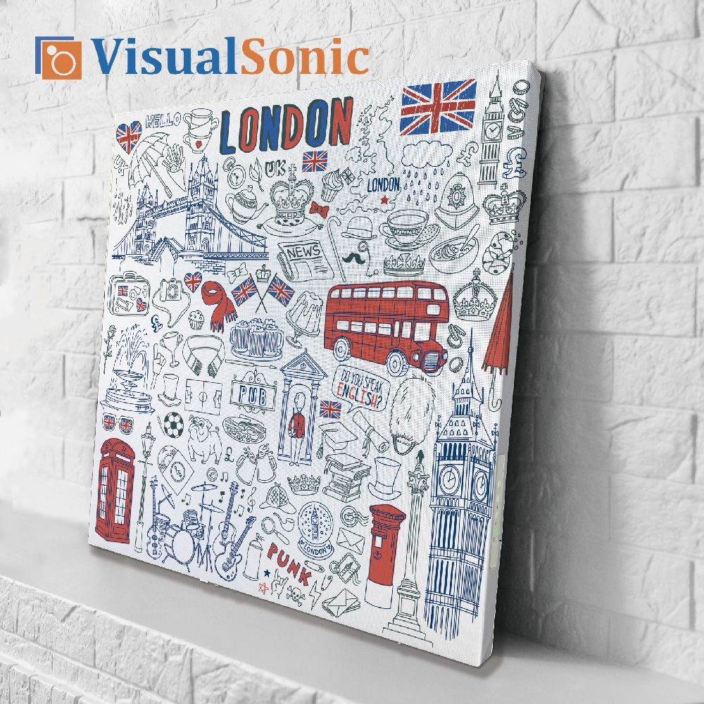 【VISUAL SONIC 夏潮 】超薄藍牙畫布音箱 London