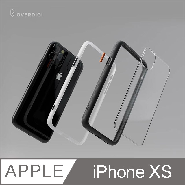 OVERDIGI OC Diamond iPhone XS 鑽石框抗污防摔邊框殻 冷霧黑