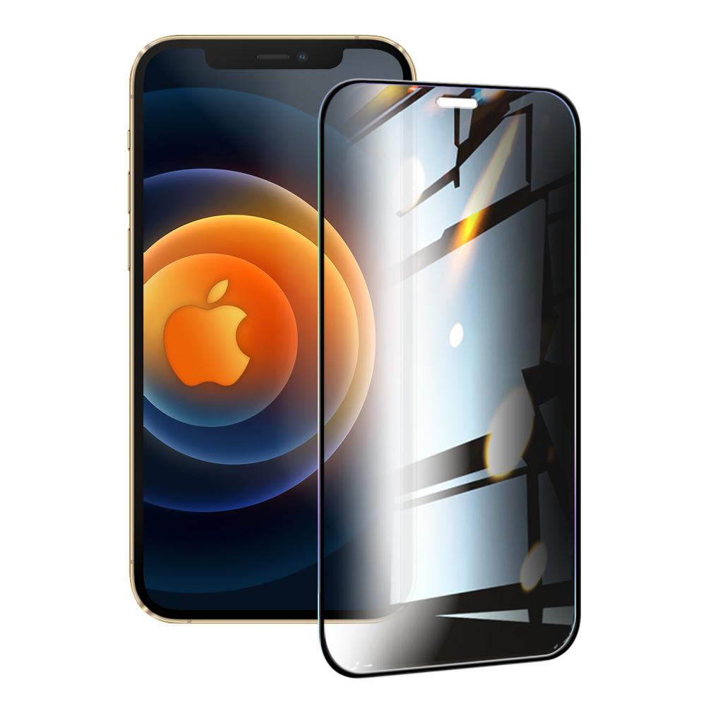 NISDA for iPhone 12 Pro Max 6.7吋 防窺滿版9H玻璃保護貼-黑