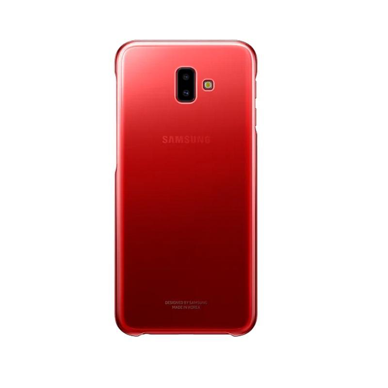 SAMSUNG Galaxy J6+ 漸層透明背蓋 紅