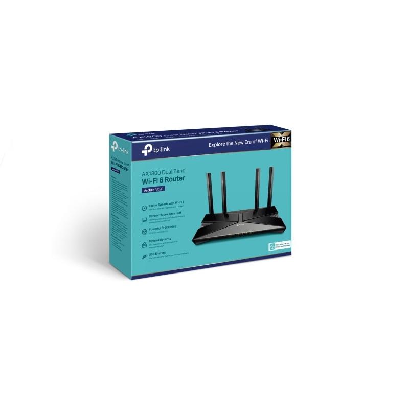 *TP-Link Archer AX20 AX1800 WiFi 6 802.11ax Gigabit雙頻無線網路分享路由器 / Archer AX20