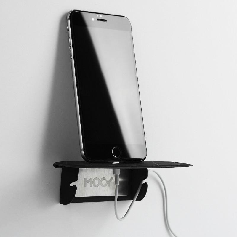 【台灣 MOOY】Plank 2.0 小力士磁吸置物架<加強版> -黑色</加強版>