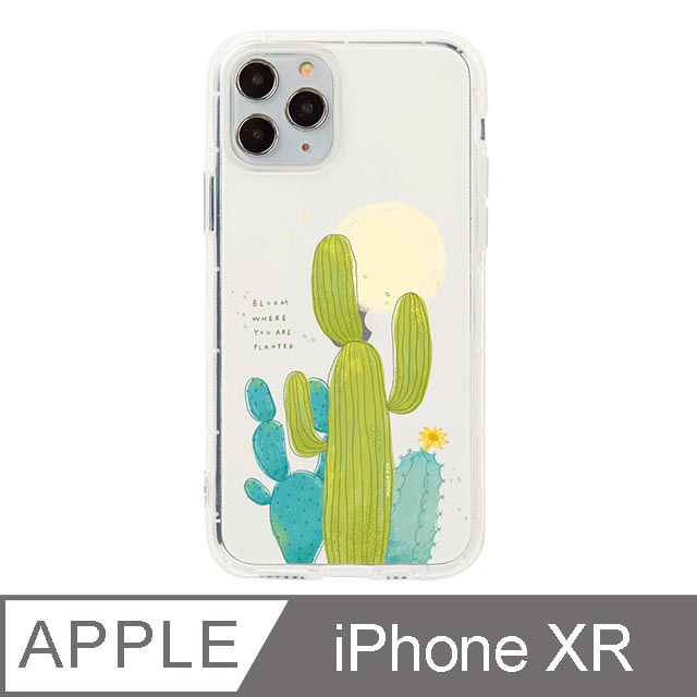 iPhone XR 6.1吋 Mandie園藝小日子插畫防摔iPhone手機殼 仙人掌