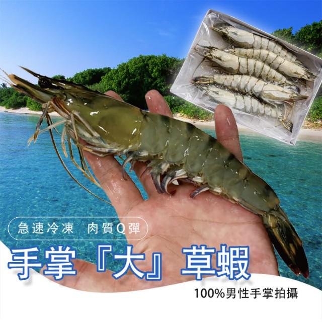 【鮮綠生活】嚴選鮮凍草蝦(250g)5尾裝 共4盒