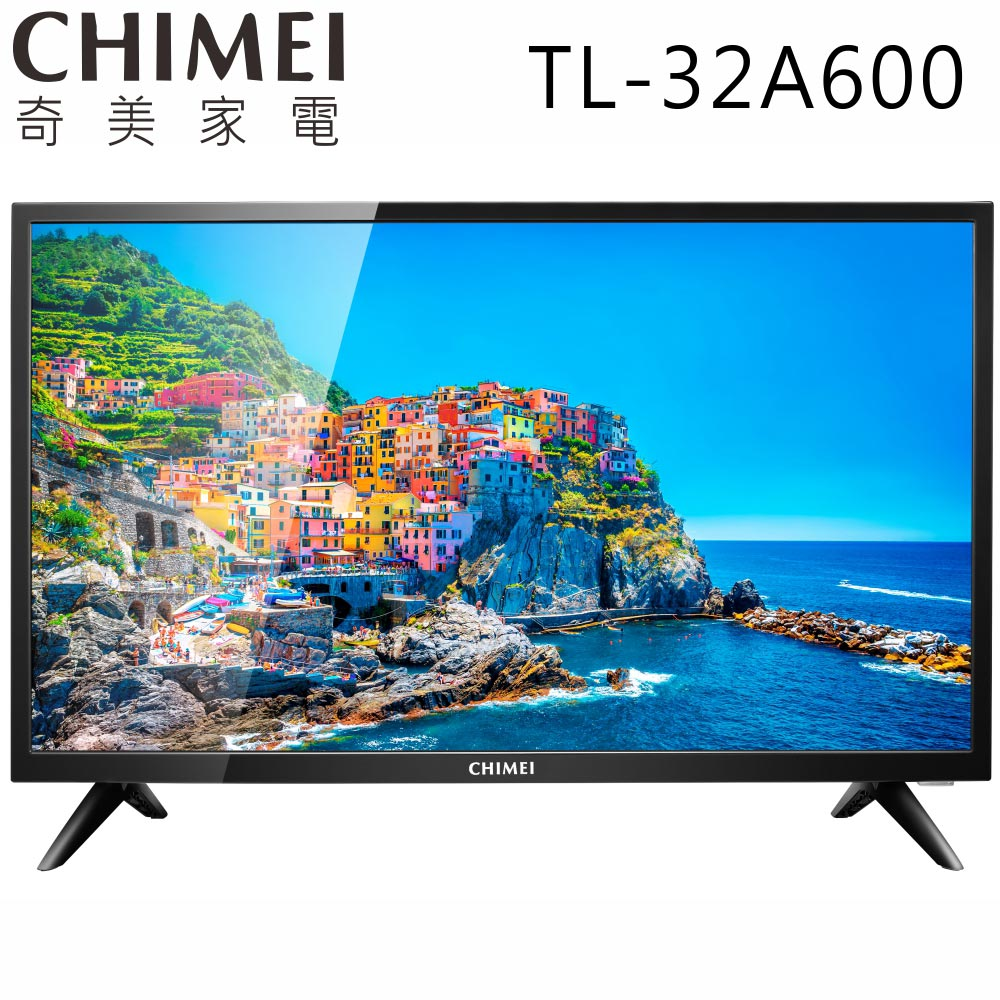 【送雙星14吋立扇】CHIMEI奇美 32吋 低藍光液晶顯示器+視訊盒(TL-32A600)