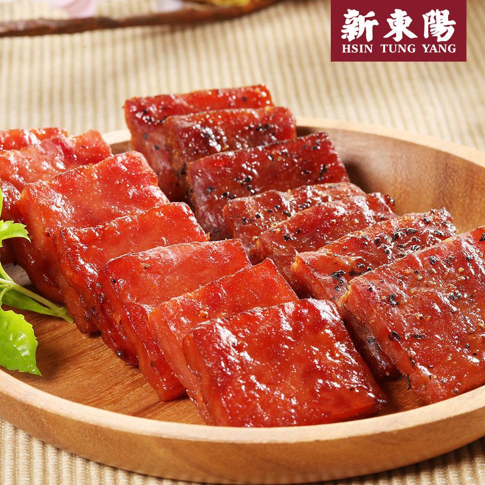 【新東陽】I-mini厚片肉乾 (105g原味*3包+黑胡椒*3包),免運