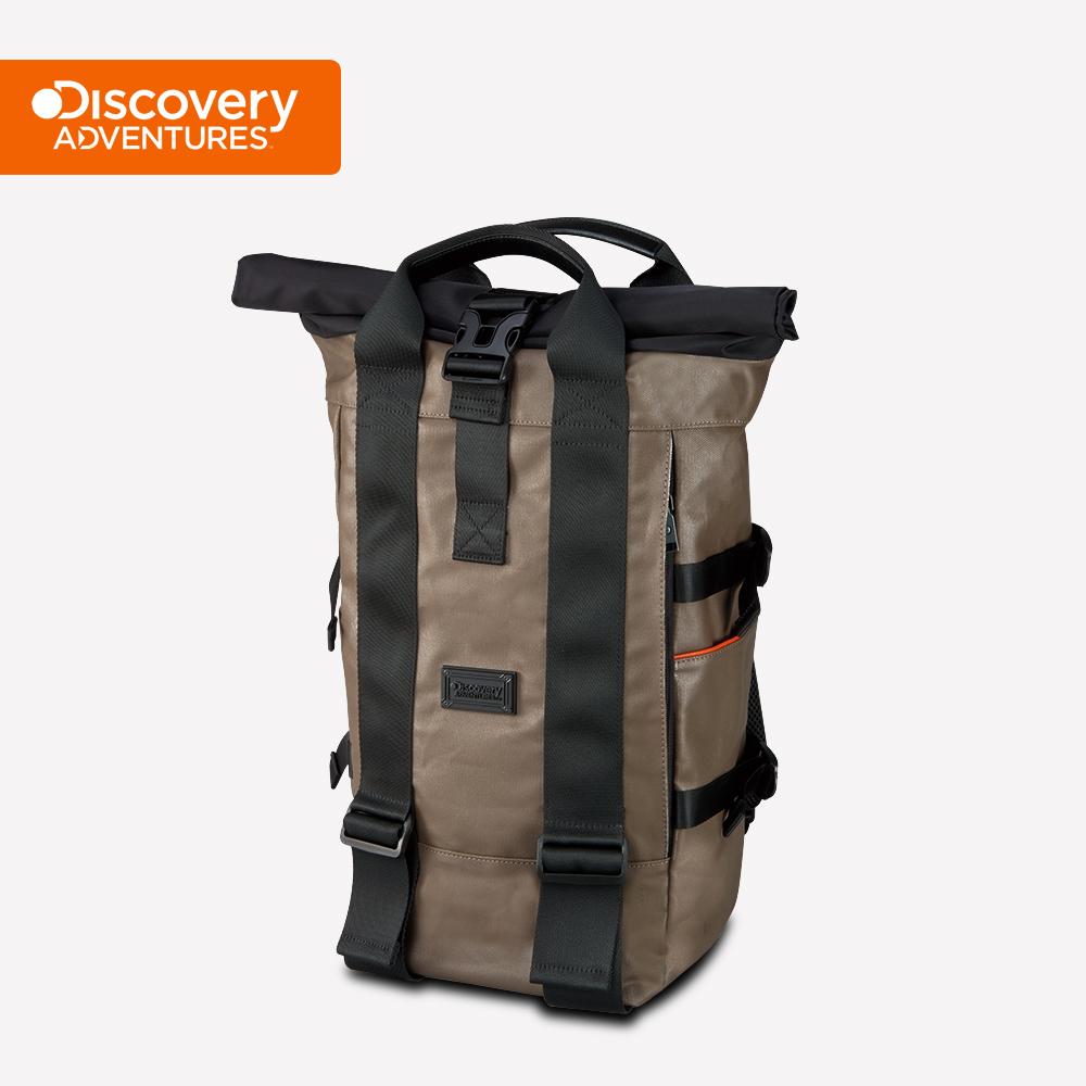 【Discovery Adventures】City捲蓋式後背包-卡其色(DA-B16202-WG)