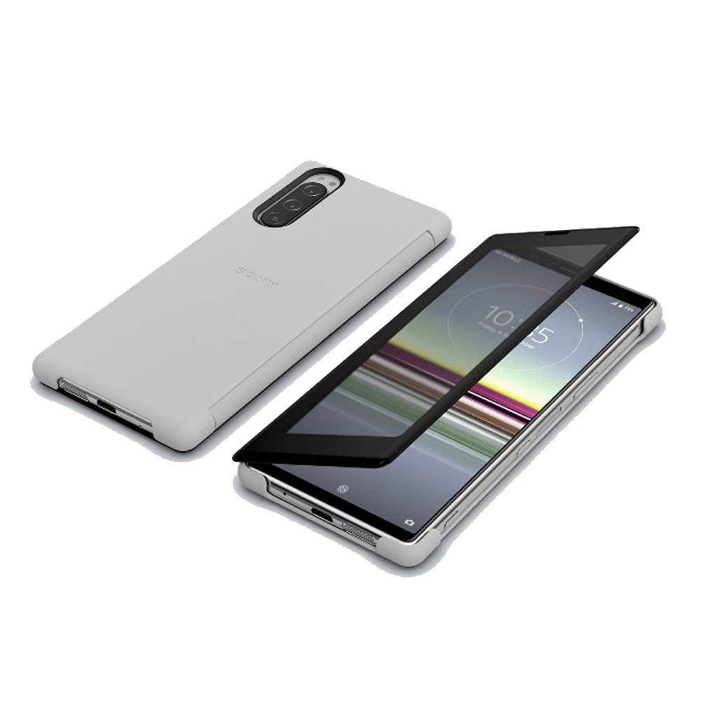SONY Xperia 5 專用視窗保護殼 (SCVJ10) 灰