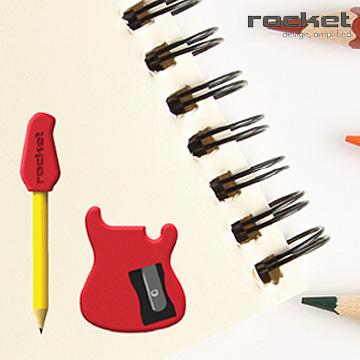 【義大利 Rocket】吉他造型削鉛筆組-2組入